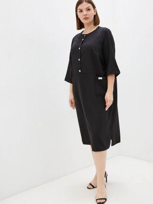 Черное зимнее платье Prewoman