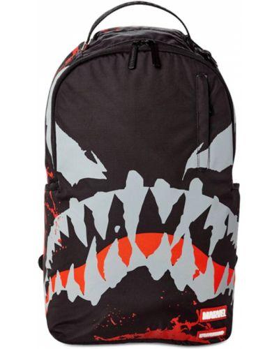 Czarny plecak z printem Sprayground