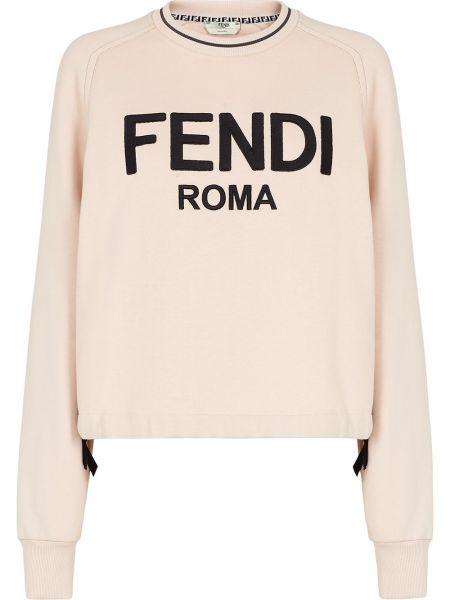 Розовая кофта с принтом Fendi