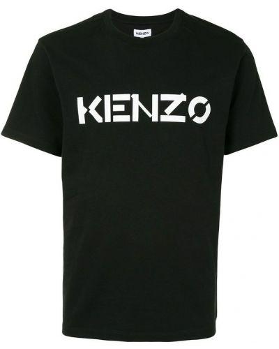 Czarna podkoszulka bawełniana Kenzo