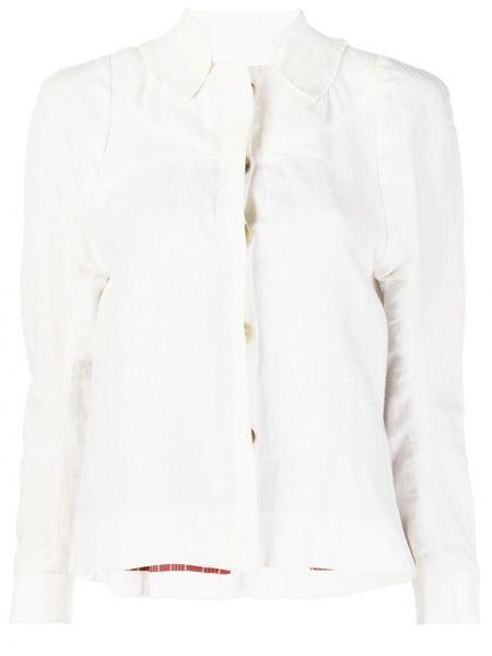 Белая льняная приталенная рубашка Atelier Bâba
