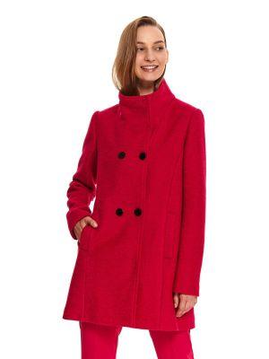 Długi płaszcz wełniany zapinane na guziki z długimi rękawami Top Secret