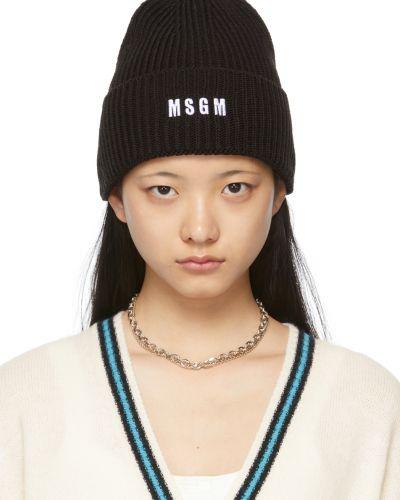 Biała czapka z haftem Msgm