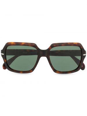 Коричневые солнцезащитные очки оверсайз Persol