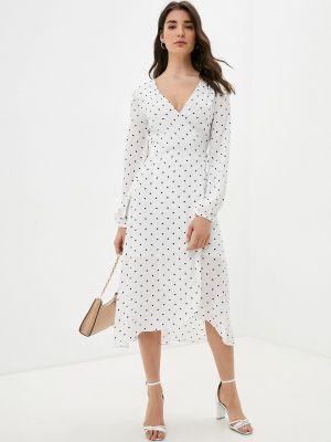 Белое платье с запахом Guess Jeans