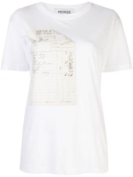 Хлопковая белая футболка Monse