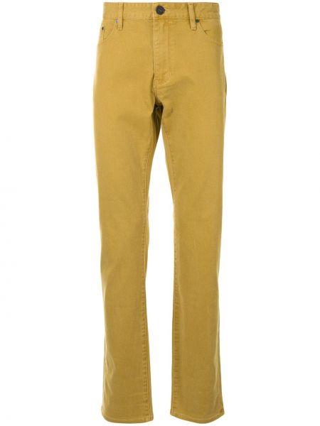 Brązowe klasyczne jeansy bawełniane Kent & Curwen