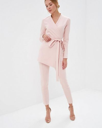 Брючный костюм розовый Toryz
