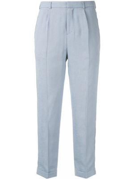 Синие укороченные брюки с поясом узкого кроя Loveless