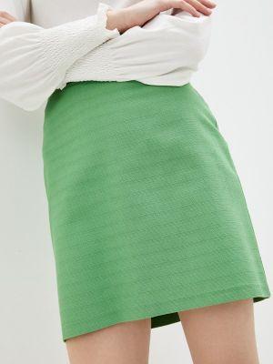 Зеленая юбка свободного кроя Adl