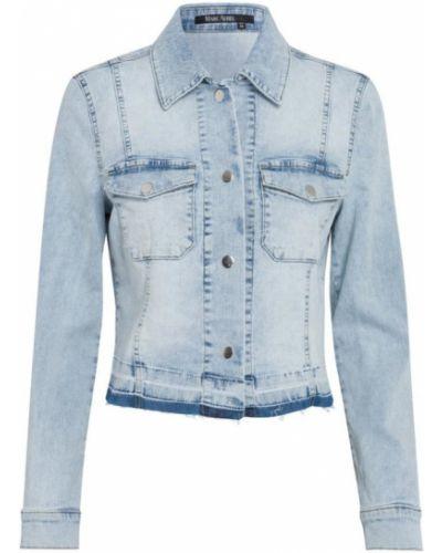 Niebieskie jeansy zapinane na guziki Marc Aurel