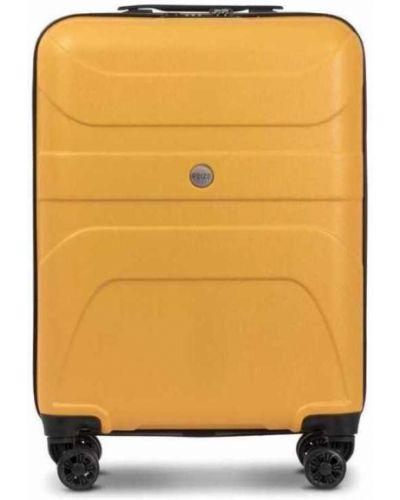 Walizka kabinowa materiałowa - żółta Reize