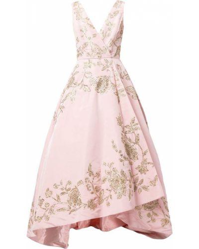 Шелковое платье макси - розовое Oscar De La Renta