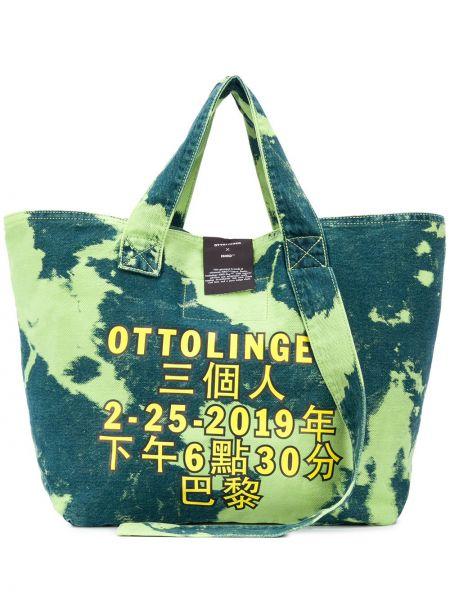 Хлопковая синяя сумка-тоут Ottolinger