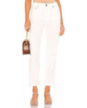 Białe jeansy z wysokim stanem bawełniane Pistola