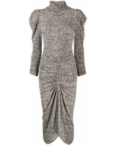 Асимметричное платье миди с воротником с оборками эластичное Isabel Marant