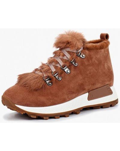 Ботинки на каблуке осенние замшевые Grand Style