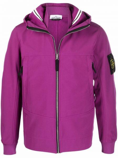 Куртка с капюшоном - фиолетовая Stone Island