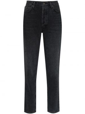 Klasyczne mom jeans - czarne Agolde