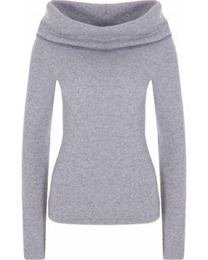 С рукавами шерстяной серый свитер с отворотом Walk Of Shame