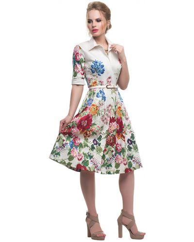 Платье с отложным воротником хлопковое Петербургский Швейный Дом