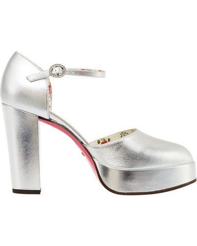 Туфли на высоком каблуке кожаные на каблуке Gucci