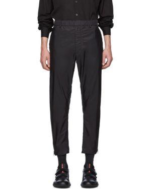 Брюки черные с карманами Prada