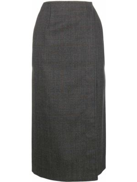 Spódnica jeansowa z wysokim stanem kopertowa wełniana Calvin Klein 205w39nyc
