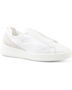 Кеды белые замшевые Lacoste