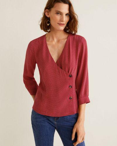 Блузка с длинным рукавом с V-образным вырезом с запахом Mango