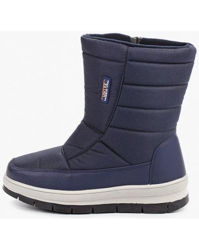 Ботинки осенние синий кожаные юничел