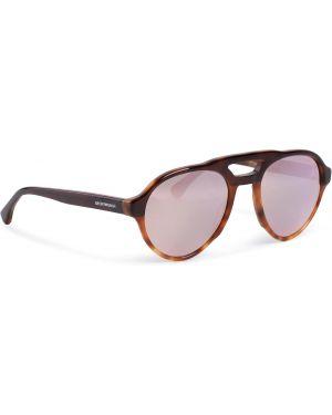 Okulary przeciwsłoneczne dla wzroku brązowy Emporio Armani