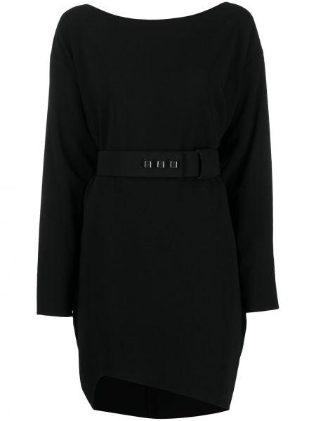 Черное платье макси с поясом с вырезом Dsquared2