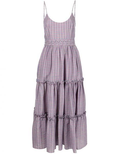 Платье в полоску - фиолетовое Cinq À Sept