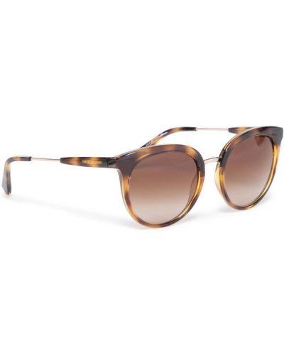 Brązowe okulary Emporio Armani