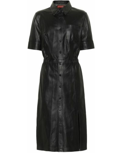 Домашнее черное кожаное платье Altuzarra