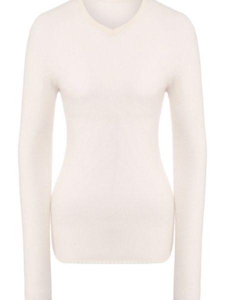 Белый шерстяной свитер Tegin