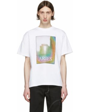 Koszula krótkie z krótkim rękawem z kołnierzem z nadrukiem Aries