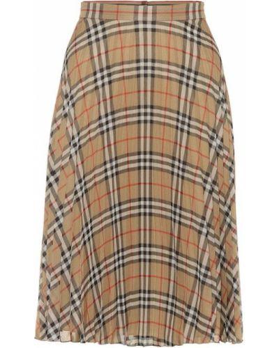 Плиссированная юбка пачка бежевый Burberry