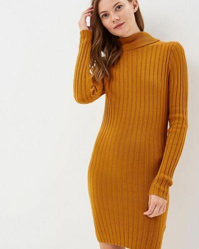 Желтое платье с длинными рукавами Brave Soul