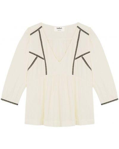 Biała bluzka z długimi rękawami Ba&sh