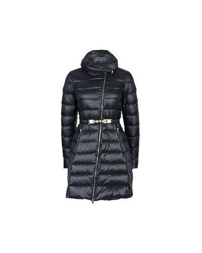 Утепленная куртка черная длинная Liu Jo