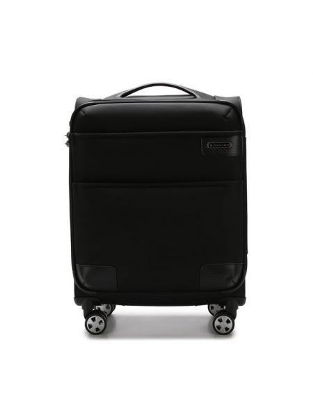 Текстильный коричневый чемодан с карманами Roncato