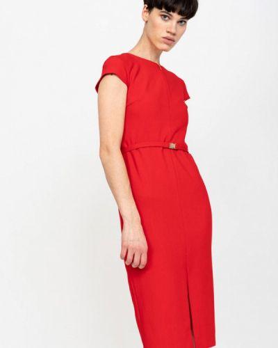 Платье красный осеннее Lime