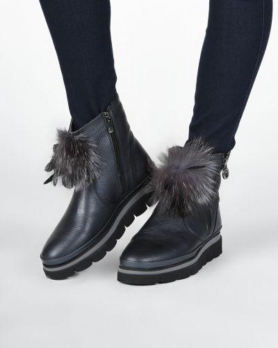 Кожаные ботинки - синие Lab-milano