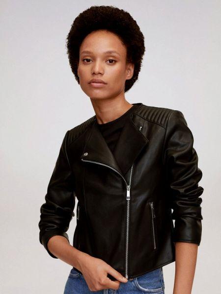 Косуха китайская черная куртка осенняя Mango
