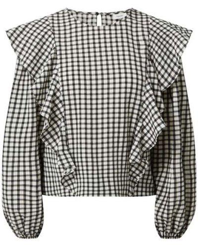 Bluzka w kratę - czarna Marc O'polo Denim