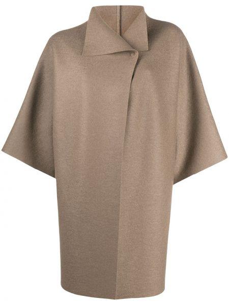 С рукавами шерстяное пальто с воротником с бабочкой Harris Wharf London
