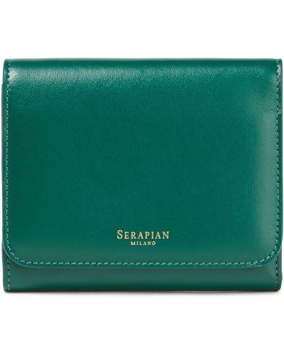 Кожаный кошелек - зеленый Serapian