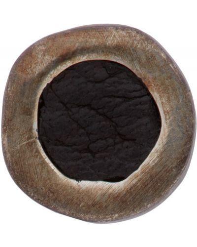 Кожаные черные серебряные серьги Guidi
